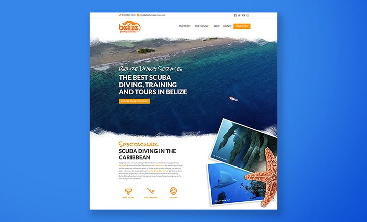 Belize Diving Services website