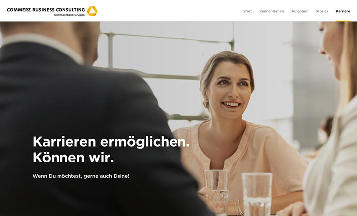 Commerz Business Consulting website