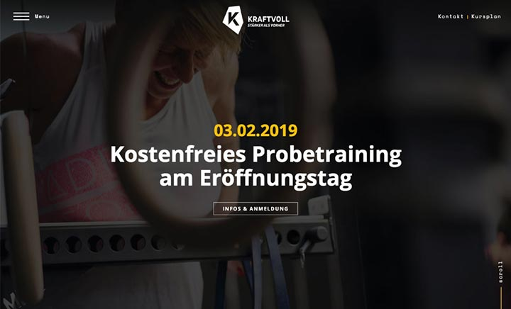 KRAFTVOLL - Functional Training website