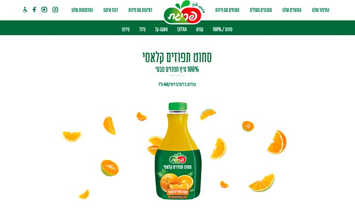 Prigat Fruits website