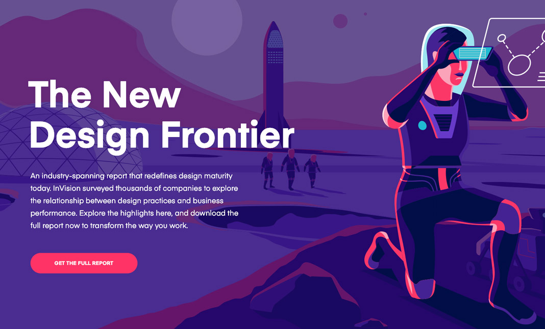 InVision The New Design Frontier website