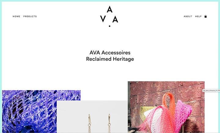 AVA Accessoires website