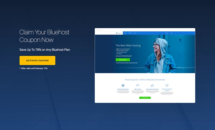 Bluehost Promo Coupon website
