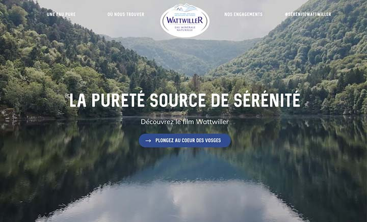 Wattwiller Mineral Water website