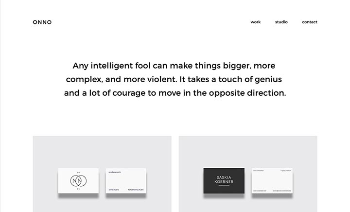 ONNO - Design Studio website