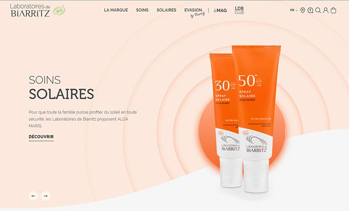 Les Laboratoires de Biarritz website