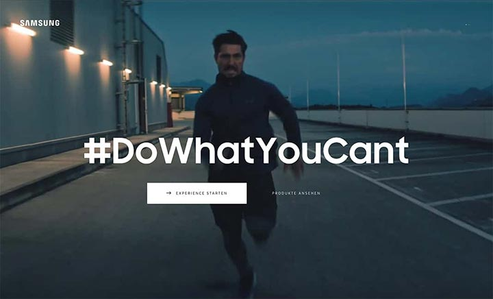 Samsung - Do What You Can't website