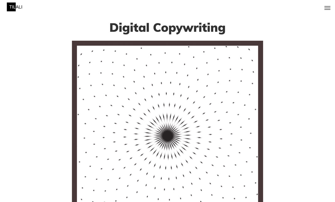 TiAli Digital Copywriting  website