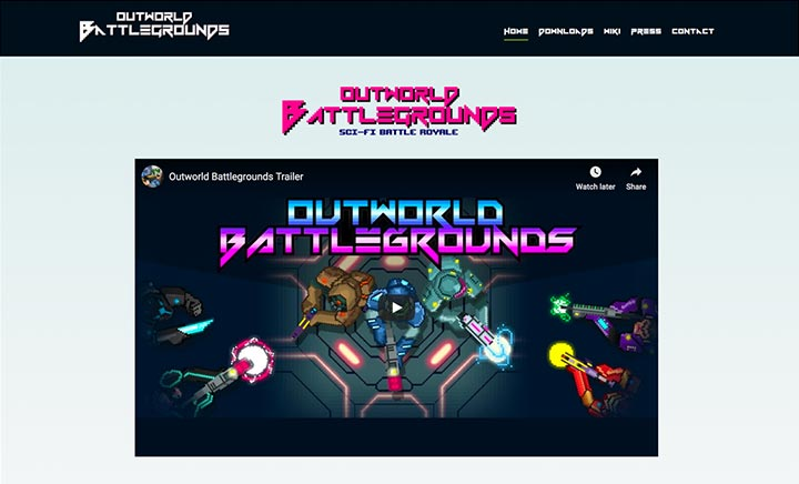 Outworld Battlegrounds website
