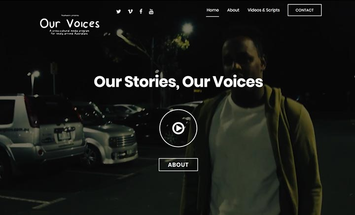 Our Voices website