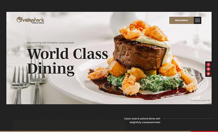 Christopher's World Grille website