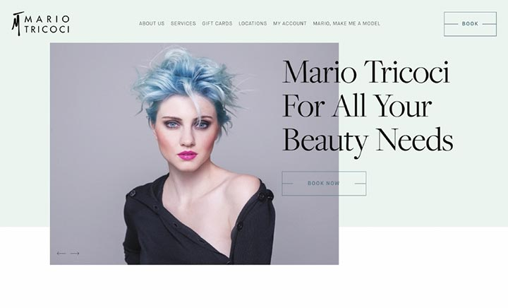Mario Tricoci website
