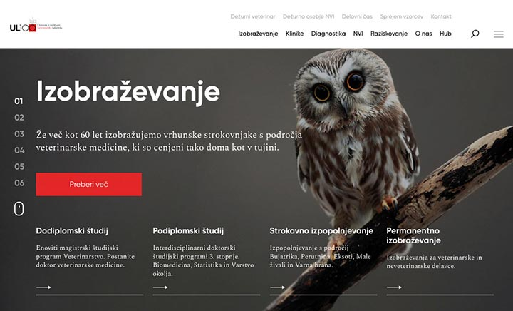 Veterinarska fakulteta website