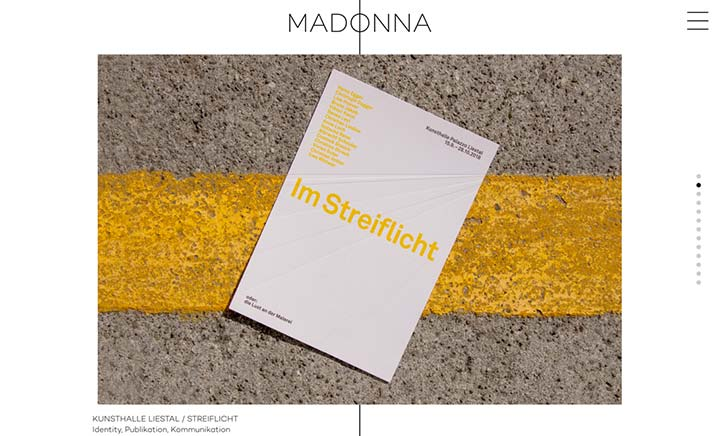 MADONNA Kommunikation website