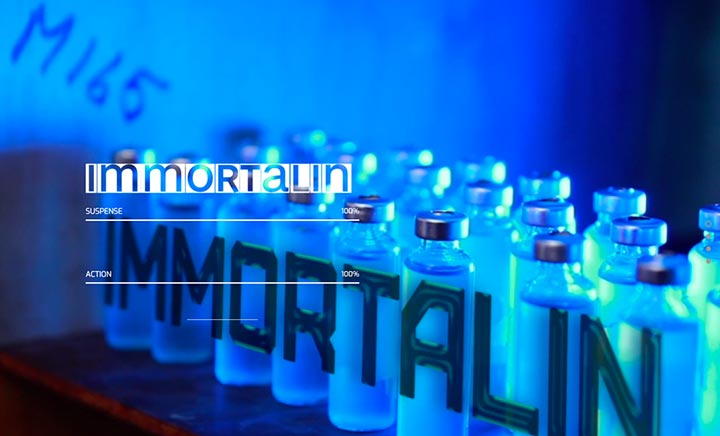 Immortalin Film website