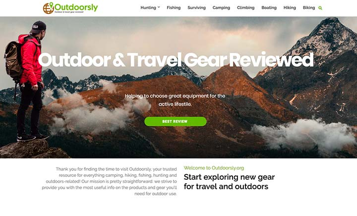 Outdoorsly website