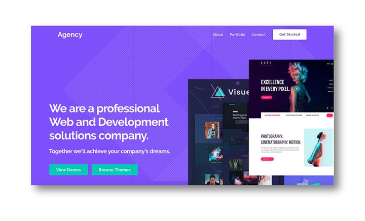 AgencyII Ultra WordPress Theme website