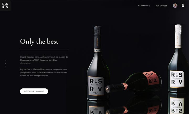 G.H. MUMM - Private Club RSRV website