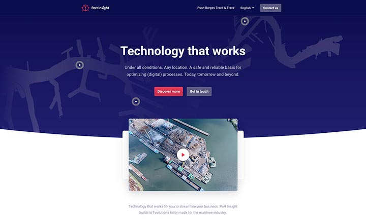 Port Insight website