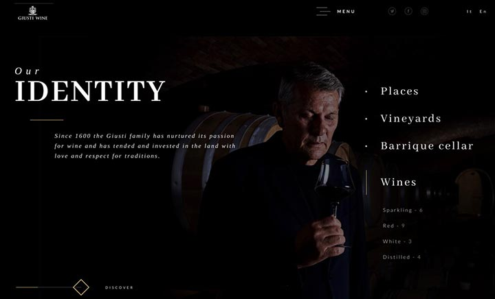 Giusti Wine  website