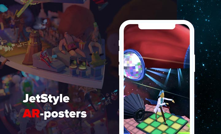 JetStyle's AR-posters website