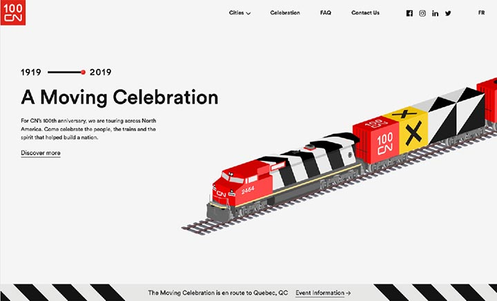 CN100 — A Moving Celebration