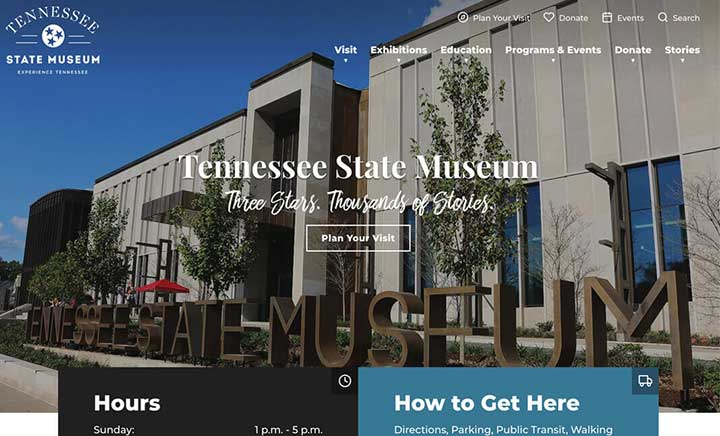 Tennesse State Museum website