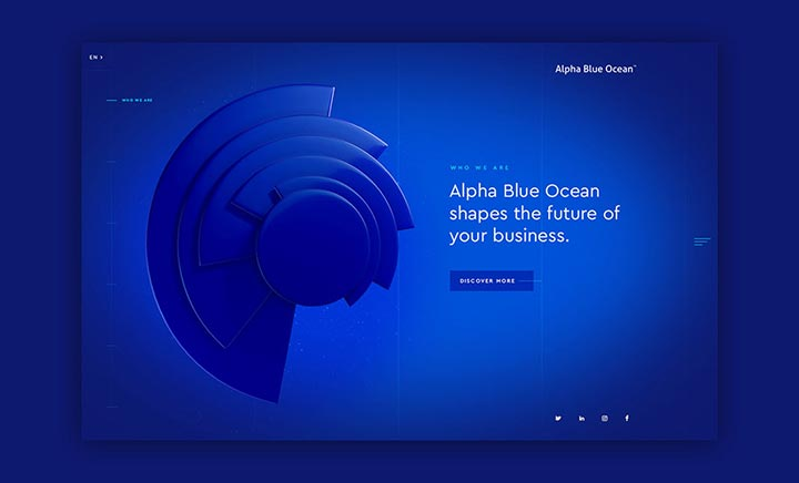 Alpha Blue Ocean website
