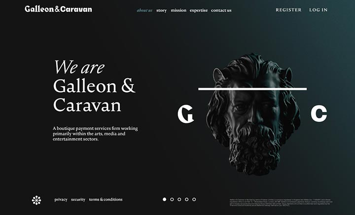 Galleon & Caravan website