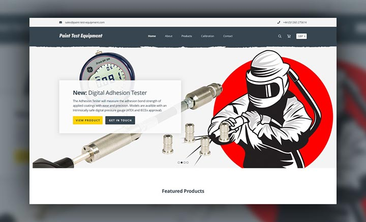 Paint Test Equipment website