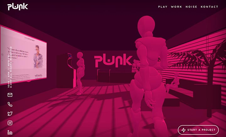 PWNK Digital website