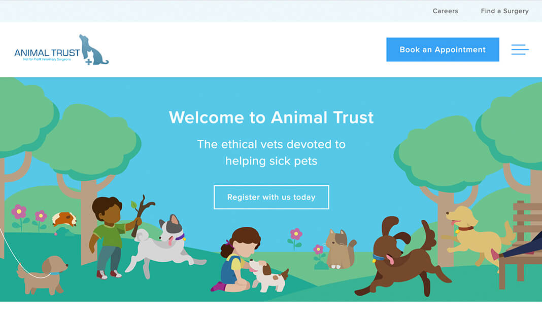 Animal Trust website