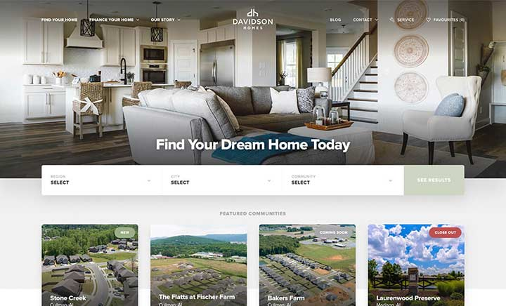 Davidson Homes LLC website