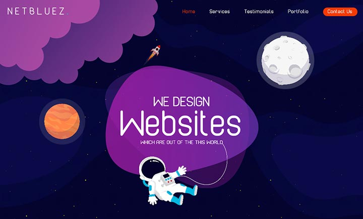 Netbluez Web / Branding / Digital website