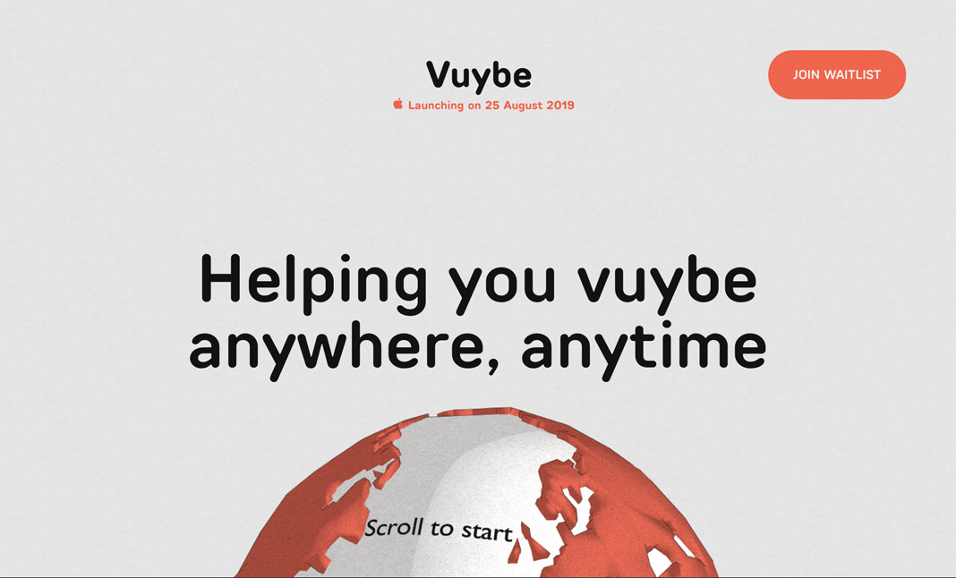 Vuybe website