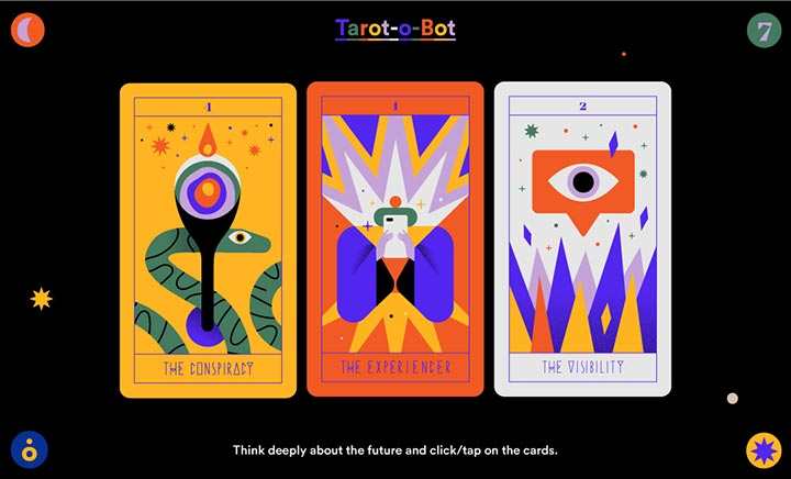 Tarot-o-bot website