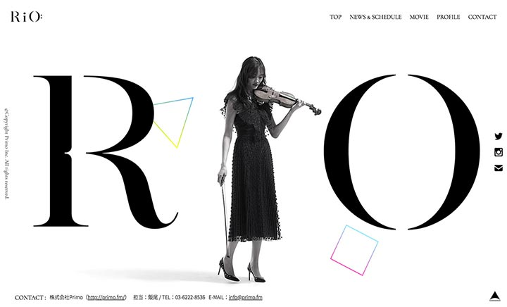 RiO Dancing Violinist website
