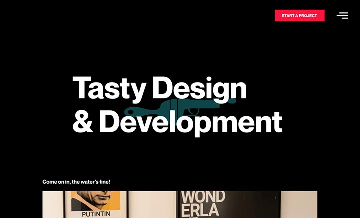 Brushgunz - Tasty Design and Dev website