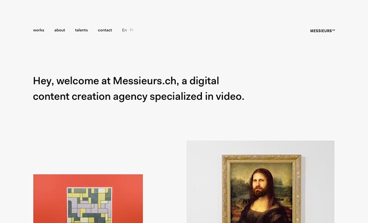 Messieurs.ch website