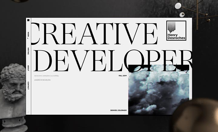 Creative Developer Portfolio website