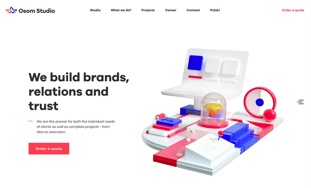 Osom Studio website