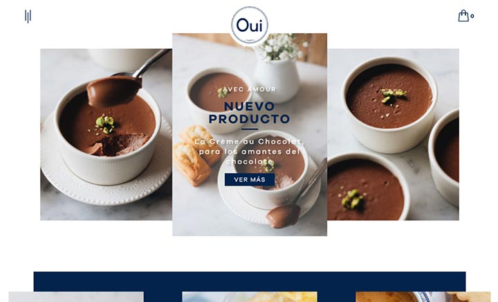 Oui Paris Pâtisserie website