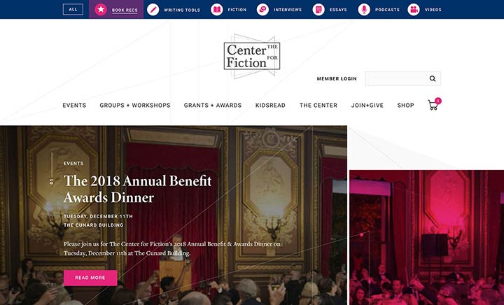 Center for Fiction website