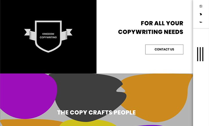 Copywriting Demo website