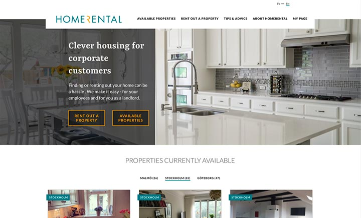 Homerental website