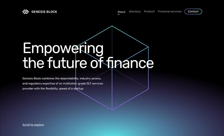 Genesis Block website