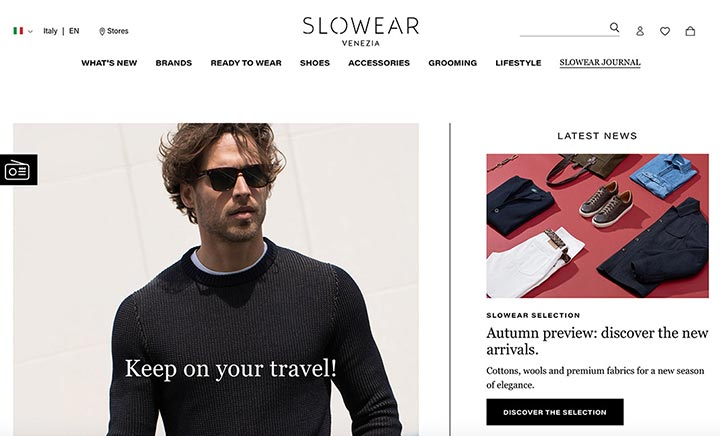 Slowear website