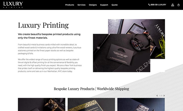 Luxury Printing website
