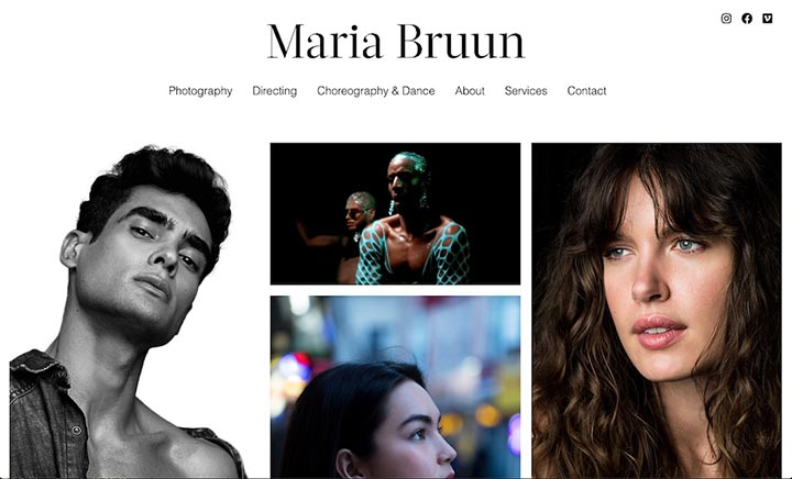 Maria Bruun website