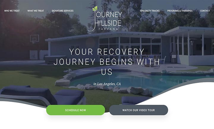 Journey Hillside Tarzana website